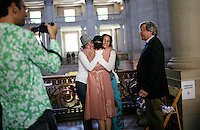 Same-sex couples marry at City Hall, in San Francisco, CA, on Wednesday, June 18, 2008.