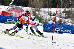 AIGNER Veronika, Guide: AIGNER Elizabeth, B2, AUT, Slalom at the WPAS_2019 Alpine Skiing World Cup Finals, Morzine, France