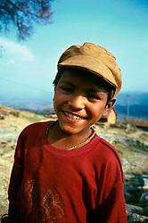 NEPAL POKHARA APR95 - A Nepalese village boy poses for a photo. <br /> <br /> jre/Photo by Jiri Rezac<br /> <br /> © Jiri Rezac 1995<br /> <br /> Tel: +44 (0) 7050 110 417<br /> Email: info@jirirezac.com<br /> Web: www.jirirezac.com