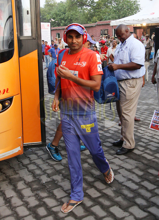 Mohammad Shami of the Delhi Daredevils arrive before  match 26 of the Pepsi Indian Premier League Season 2014 between the Delhi Daredevils and the Chennai Superkings held at the Ferozeshah Kotla cricket stadium, Delhi, India on the 5th May  2014<br /> <br /> Photo by Arjun Panwar / IPL / SPORTZPICS<br /> <br /> <br /> <br /> Image use subject to terms and conditions which can be found here:  http://sportzpics.photoshelter.com/gallery/Pepsi-IPL-Image-terms-and-conditions/G00004VW1IVJ.gB0/C0000TScjhBM6ikg