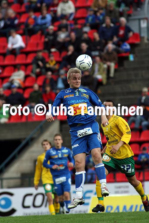 26.04.2007, Ratina, Tampere, Finland..Veikkausliiga 2007 - Finnish League 2007.Tampere United - FC KooTeePee.Jarkko Wiss - TamU.©Juha Tamminen.....ARK:k