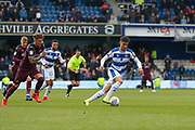 Queens Park Rangers forward Lewis Walker (34) during the EFL Sky Bet Championship match between Queens Park Rangers and Swansea City at the Loftus Road Stadium, London, England on 13 April 2019.