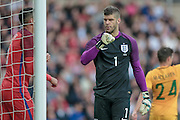 Fraser Forster (England) during the Friendly International match match between England and Australia at the Stadium Of Light, Sunderland, England on 27 May 2016. Photo by Mark P Doherty.