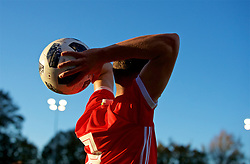 BANGOR, WALES - Monday, October 15, 2018: Wales' Neco Williams prepares to take a throw-in during the UEFA Under-19 International Friendly match between Wales and Poland at the VSM Bangor Stadium. (Pic by Paul Greenwood/Propaganda)