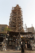 Egypt. Cairo -minaret of a mosque in ruins . in Ahmad MAHIR street,  in old islamic Cairo     NM401 +
