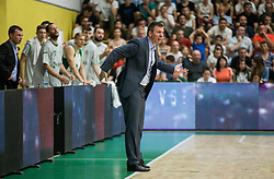 Simon Petrov, coach of Krka during basketball match between KK Krka Novo mesto and  KK Petrol Olimpija in 4th Final game of Liga Nova KBM za prvaka 2017/18, on May 27, 2018 in Sports hall Leona Stuklja, Novo mesto, Slovenia. Photo by Vid Ponikvar / Sportida