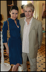 Duran Duran band Member Nick Rhodes with his Girlfriend Nefer Suvio  attend the National Youth Orchestra of The United States of America Reception at the <br /> The Royal Albert Hall hosted by Ronald O.Perelman, London, United Kingdom,<br /> Sunday, 21st July 2013<br /> Picture by Andrew Parsons / i-Images