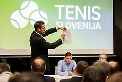 Gregor Krusic during General Assembly of Slovenian Tennis Federation, on December 12, 2018 in Kristalna palaca, Ljubljana, Slovenia. Photo by Vid Ponikvar / Sportida