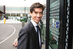 © Licensed to London News Pictures. 16/06/2019. London, UK. Rory Stewart arrives for the first televised debate between Conservative Party leadership contenders. Frontrunner Boris Johnson has said that he will not take part in the Channel 4 debate. Photo credit: Rob Pinney/LNP