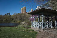 The Ladies Pavilion at the Hernhead in Central Park. It was designed by architect Jacob Wrey Mould in 1871 as a shelter for trolley passengers and originally stood near the Park's Central Park West and 59th Street entrance. In 1912, the pavilion was relocated inside the Park.