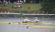 Hamburg. GERMANY. CZE JW2X racing in the Saturday Morning, Semi Finals A/B  at the 2014 FISA Junior World rowing. Championships.  09:42:14  Saturday  09/08/2014  [Mandatory Credit; Peter Spurrier/Intersport-images] 2014. Empacher. Hamburg.