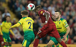 LIVERPOOL, ENGLAND - Friday, August 9, 2019: Liverpool's Divock Origi scores the fourth goal during the opening FA Premier League match of the season between Liverpool FC and Norwich City FC at Anfield. (Pic by David Rawcliffe/Propaganda)
