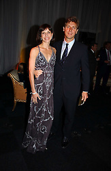 Ballerina DARCEY BUSSELL and her husband MR ANGUS FORBES at the Fortune Forum Dinner held at Old Billingsgate, 1 Old Billingsgate Walk, 16 Lower Thames Street, London EC3R 6DX<br />