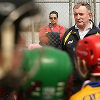 Clare hurling manager Mike McNamara at the Raheen School hurling launch in Scariff on Wednesday.<br /><br />Photograph by Yvonne Vaughan.