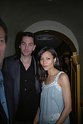 Ol Parker and Thandie Newton. charles Finch and Chanel 6th Anniversary Pre-Bafta party to celebratew A Great Year of Film and Fashion Beyond the Red Carpet at Annabel's. Berkeley Sq. London W1. 18 February 2006. ONE TIME USE ONLY - DO NOT ARCHIVE  © Copyright Photograph by Dafydd Jones 66 Stockwell Park Rd. London SW9 0DA Tel 020 7733 0108 www.dafjones.com