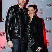 NLD/Blaricum/20121104 - Benefietavond The Red Sun Blaricum  t.b.v. Stop Kindermisbruik, Lange Frans Frederiks en partner Daniëlle van Aalderen