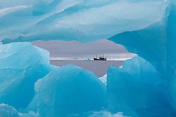 M/S Stockholm in ocean Ice near  Spitsbergen, Svalbard