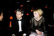 Tobey Maguire, Kirsten Dunst. Post Golden Globes HBO party. Beverley Hilton. 21 January 2001. © Copyright Photograph by Dafydd Jones 66 Stockwell Park Rd. London SW9 0DA Tel 020 7733 0108 www.dafjones.com