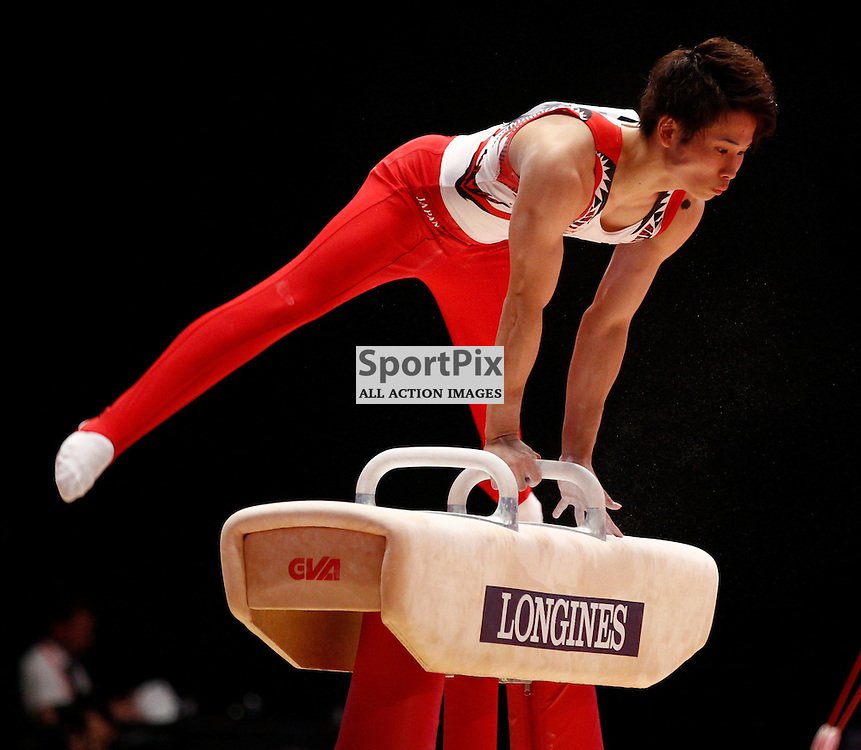 2015 Artistic Gymnastics World Championships being held in Glasgow from 23rd October to 1st November 2015.....Kazuma Kaya (Japan) competing in the Pommel Horse competition..(c) STEPHEN LAWSON | SportPix.org.uk