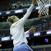 Chicago Sky Forward Elena Delle Donne (11) performs a lay-up during warm-ups prior to the start of a WNBA regular season basketball game between the Chicago Sky and the Washington Mystics Wednesday, July. 24, 2013 at The Verizon center in Washington DC.