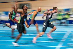 Joris van Gool, Hensley Paulina in action on the final 60 meter during the Dutch Indoor Athletics Championship on February 22, 2020 in Omnisport De Voorwaarts, Apeldoorn