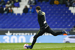 January 17, 2019 - Barcelona, Catalonia, Spain - RCD Espanyol's goalkeeper Roberto Espanyol during the match RCD Espanyol v Villarreal CF, for the round of 16 of the Copa del Rey played at Camp Nou  on 17th January 2019 in Barcelona, Spain. (Credit Image: © Mikel Trigueros/NurPhoto via ZUMA Press)