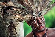 Taino culture representation by actors in a theme park. Representacion cultural del pueblo Taino en un parque tematico. Danza ritual y retratos.