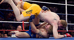 December 29, 2006 - Uncasville, CT - The Silverback's Ryan McGivern defeats the Wolfpack's Matt Horwich via 3rd round unanimous decision at the Mohegan Sun in Uncasville, CT.  In the team finals the Silverbacks defeated the Wolfpack 4-1 to capture the IFL team title.