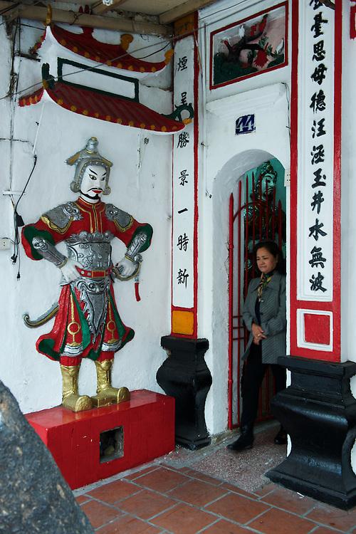 One of Hanoi's many family shrines in the Old Quarter.