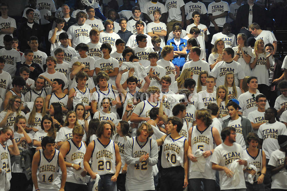 Students cheer before the Oxford High vs. Houston game in Oxford, Miss. on Thursday, November 20, 2014.