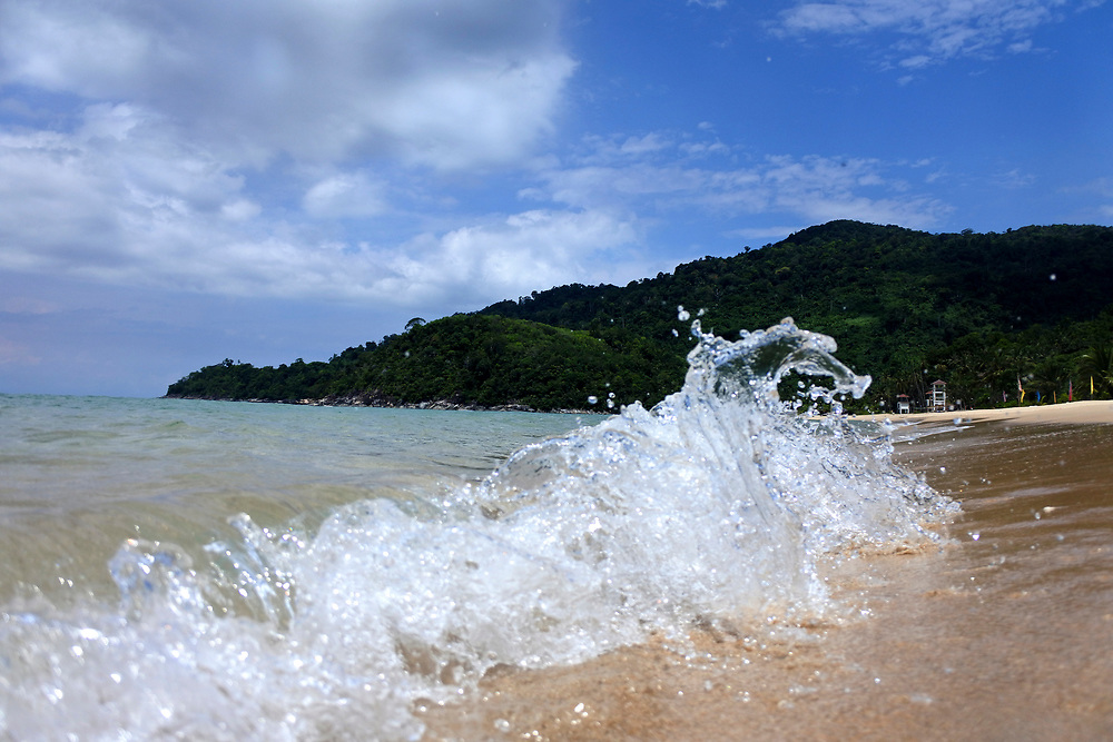Waves from Tiomen Islands, Malaysia