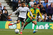 Derby County midfielder Duane Holmes on the ball during the EFL Sky Bet Championship match between Derby County and West Bromwich Albion at the Pride Park, Derby, England on 5 May 2019.