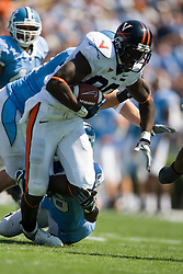 Virginia wide receiver Maurice Covington (80) after a pass reception.  The North Carolina Tar Heels football team faced the Virginia Cavaliers at Kenan Memorial Stadium in Chapel Hill, NC on September 15, 2007.  UVA defeated UNC 22-20.