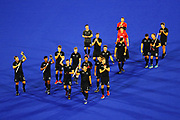 The Black Sticks Men acknowledge the supporters after the match. Gold Coast 2018 Commonwealth Games, Hockey, Black Sticks Men v Australia, Gold Coast, Australia. 11 April 2018 © Copyright Photo: Anthony Au-Yeung / www.photosport.nz