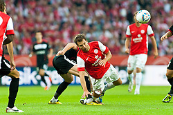 28.07.2011, Coface Arena, Mainz, GER, UEFA Europa League, Mainz 05 vs CS Gaz Metan Medias, im Bild Akaki Khubutia (Gaz Metan #13) im Zweikampf mit Andreas Ivanschitz (Mainz #25) // during the GER, UEFA Europa League, Mainz 05 vs CS Gaz Metan Medias on 2011/07/28, Coface Arena, Mainz, Germany. EXPA Pictures © 2011, PhotoCredit: EXPA/ nph/  Roth       ****** out of GER / CRO  / BEL ******