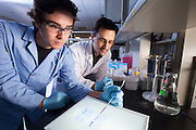 Assistant Professor Justin M. Holub, right, Biochemistry Research Facility Ohio University. © Ohio University / Photo by Jonathan Adams