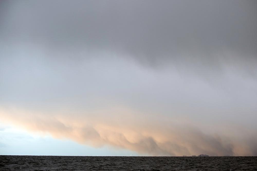 Lofoten from sea level, Norway,