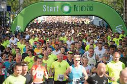 Runners during running race Tek trojk et event Pot ob zici 2017, on May 6, 2017, in Ljubljana, Slovenia. Photo by Anze Petkovsek / Sportida
