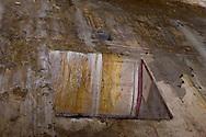 """Roma 1 Aprile 2015<br /> Presentato il progetto per il risanamento della Domus Aurea, realizzato dalla Soprintendenza speciale per i beni archeologici di Roma, che consiste nella sistemazione del  giardino pensile,una parcella di 800 mq ,realizzato con tecnologie sostenibili che farà da «scudo» alla  Domus Aurea impedendo le infiltrazioni d'acqua. L'interno della Domus Aurea. Il Grande Criptoportico. Affresco dipinto su un muro danneggiato dalle infiltrazioni d'acqua.<br /> Rome, April 1, 2015<br /> Presented the project for the rehabilitation of the Domus Aurea, fulfilled  by the Superintendence for Cultural Heritage of Rome, which is the arrangement of the roof garden, a plot of 800 square meters, made with sustainable technologies that will be the """"shield"""" at the Domus Aurea for  preventing water infiltration. The interior of the Domus Aurea. The Great cryptoporticus. Fresco Painting damaged by water infiltration."""