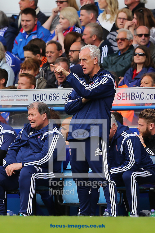 Manager of Ipswich Town, Mick McCarthy during the Sky Bet Championship play off semi final first leg at Portman Road, Ipswich<br /> Picture by Richard Calver/Focus Images Ltd +44 7792 981244<br /> 09/05/2015