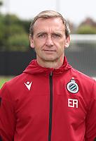 KNOKKE-HEIST, BELGIUM - JULY 10: Eddie Rob, physical coach of Club Brugge, during the 2019 - 2020 season photo shoot of Club Brugge on July 10, 2019 in Knokke-Heist, Belgium. (Photo by Vincent Van Doornick/Isosport)