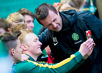 24/05/15 SCOTTISH PREMIERSHIP<br /> CELTIC v INVERNESS CT<br /> CELTIC PARK - GLASGOW<br /> Celtic manager Ronny Deila poses for a photograph with a fan