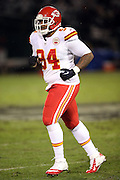 Kansas City Chiefs defensive tackle Kevin Vickerson (94) jogs back to the sideline during the NFL week 12 regular season football game against the Oakland Raiders on Thursday, Nov. 20, 2014 in Oakland, Calif. The Raiders won their first game of the season 24-20. ©Paul Anthony Spinelli