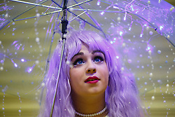 © Licensed to London News Pictures. 25/10/2015. London, UK. Alex Lind dressed as Kuronosuke from Princess Jellyfish attending the MCM London Comic Con at ExCeL Convention Centre on Sunday, 25 October 2015. Photo credit: Tolga Akmen/LNP