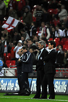 Photo: Tony Oudot/Richard Lane Photography. <br /> England v Switzerland. International Friendly. 06/02/2008. <br /> Fabio Capello the new England manager watches the teams warm up