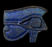 Wedjet Eye, an amulet from Dynastic Egypt. The Wedjet is associated with Horus, the god of the sky, depicted as a falcon or as a man with a falcon's head. In a battle with Seth, the god of chaos and confusion, Horus lost his left eye. But the wound was healed and the Wedjet came to symbolise the healing