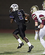 Cedar Ridge wide receiver Kadarius Daniels runs into the end zone for a touchdown against Rouse in the first half at Dragon Stadium.  (LOURDES M SHOAF for Round Rock Leader.)