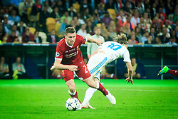 James Milner of Liverpool vs Luka Modric of Real Madrid during the UEFA Champions League final football match between Liverpool and Real Madrid at the Olympic Stadium in Kiev, Ukraine on May 26, 2018.Photo by Sandi Fiser / Sportida