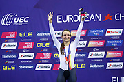 Podium, Women Elimination Race, Anna Knauer (Netherlands) silver medal, during the Track Cycling European Championships Glasgow 2018, at Sir Chris Hoy Velodrome, in Glasgow, Great Britain, Day 4, on August 5, 2018 - Photo Luca Bettini / BettiniPhoto / ProSportsImages / DPPI - Belgium out, Spain out, Italy out, Netherlands out -
