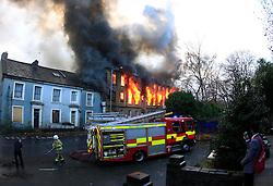 Mill fire in Thornton village